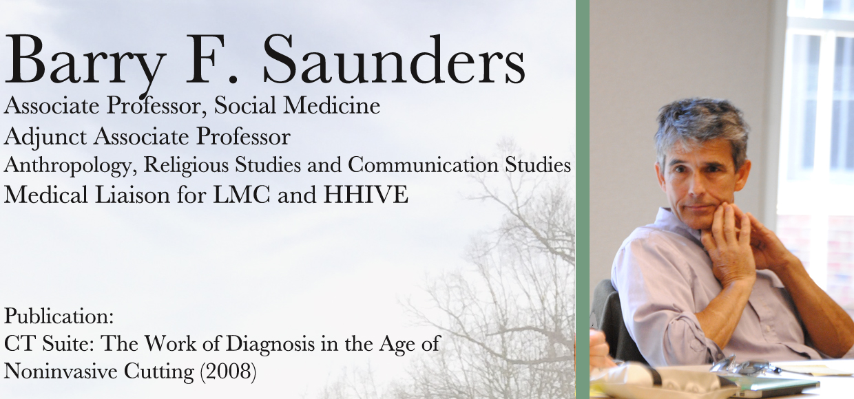 Image of Barry Saunders, Medical Liaison for LMC and HHIVE