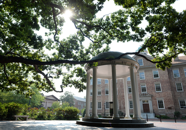 The Old Well in early September on the campus of the University of North Carolina at Chapel Hill.